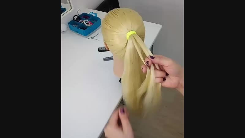 Видео МК Воздушная коса