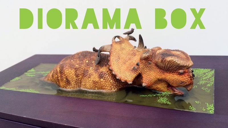Resin Swamp Water Diorama Box Featuring Pachyrhinosaurus!