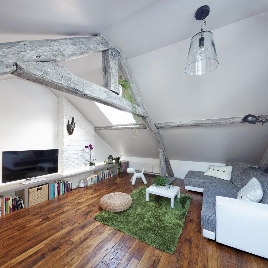 Интерьер мансардной квартиры