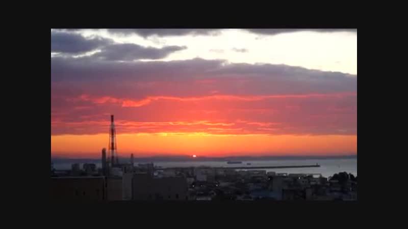 Восход солнца в Стране Восходящего Солнца (Япония)