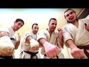 Entraînement des combattants de Kyokushinkaï français avant le tournoi France-Japon à Bercy