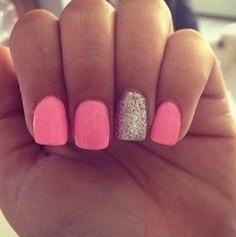 Розовый дизайн ногтей маникюр розовый