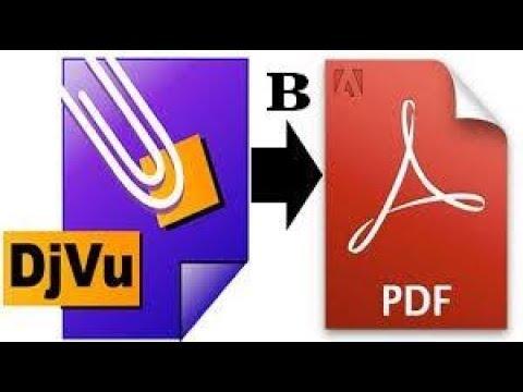 Преобразовать DjVu в PDF Две программы