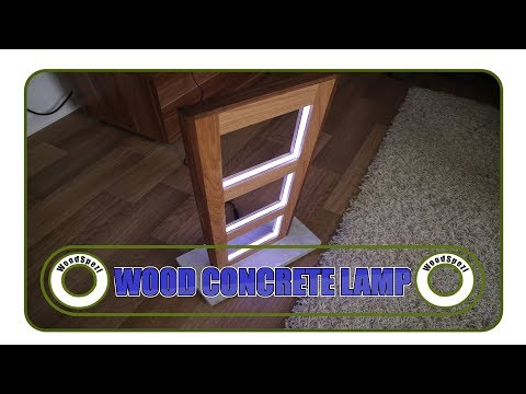 Lampe selber bauen Holz und Beton DIY