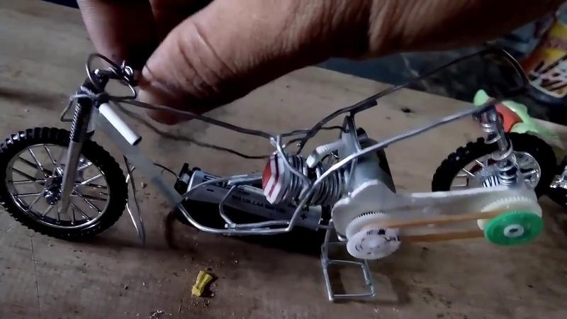 Motor drag metik menggunakan tenaga batre Miniatur drag metik tenaga batre