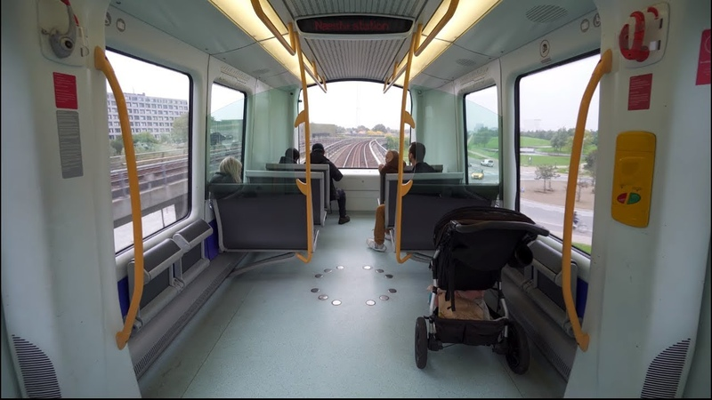 Denmark, Copenhagen, Metro ride from DR Byen to Sundby, 2X elevator