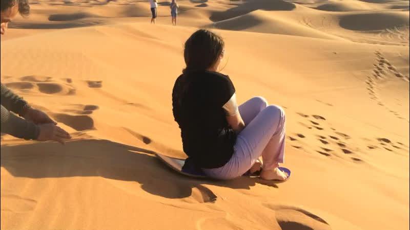 Sand boarding 🏂 дубаи 2018