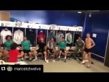 Сын Марсело показал скилл в игре головой с футболистами «Реала»