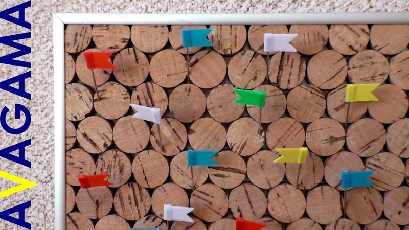 Как сделать доску из пробок DIY cork board