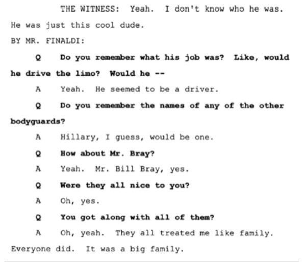 Показания Йоши Уейли, сына Джоли Левин (секретарь MJ)., изображение №3