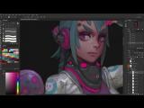 Lim3 chan - photoshop digital painting tutorial sample by Gui Guimaraes