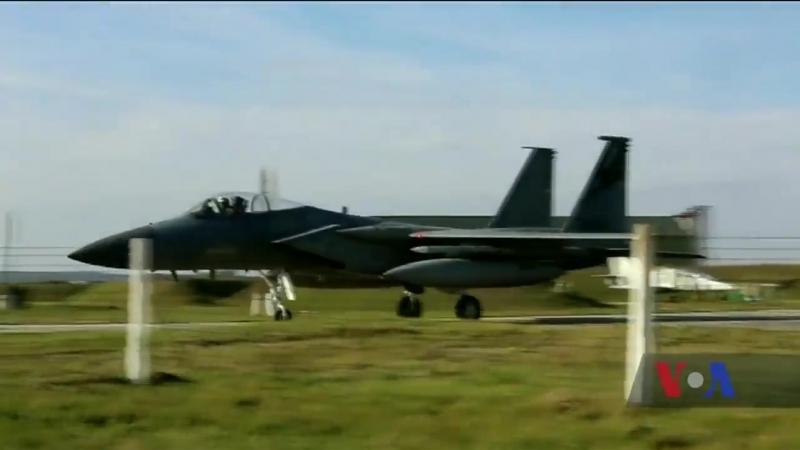 Вперше на території України тренуються американські тактичні військові літаки.
