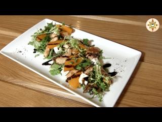Александр Потехин научит готовить салат из печеной тыквы и индейки