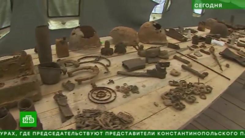 НТВ. Поисковики нашли подо Ржевом более 200 останков красноармейцев