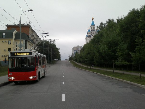 "Троллейбусный маршрут №1 ""Аэропорт - Комсомольская пл."