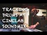 Запись барабанов на студии Cinelab для группы Jack Action