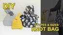 매듭 가방 만들기 | 3가지 스타일 사이즈 | how to make a knot bag | 가방 패턴 소잉타임즈