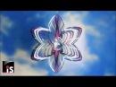 Спиннер с кристаллом Цветок фиолетовый