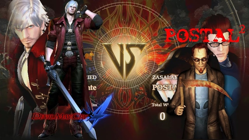 Soul Calibur 6 Created Character Fight: DMC 4 Dante VS Postal 2 Dude