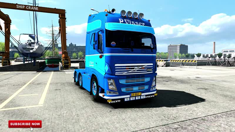 [ETS.2 V1.34] ★ Volvo FH 12 Trailer P.Visser Transport Mod ★