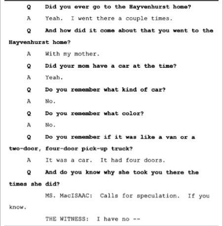 Показания Йоши Уейли, сына Джоли Левин (секретарь MJ)., изображение №8
