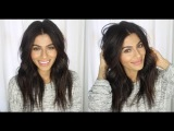 Как сделать растрепанные волнистые волосы #2