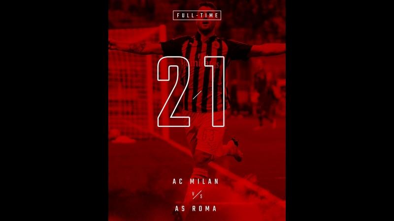 AC Milan 2 v 1 AS Roma, Serie A TIM 2018/19