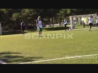 Video of Justin playing soccer in Playa Vista, California. (October 20)