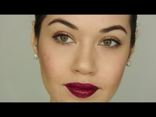 Dark Burgundy Lip Makeup Tutorial   Eman