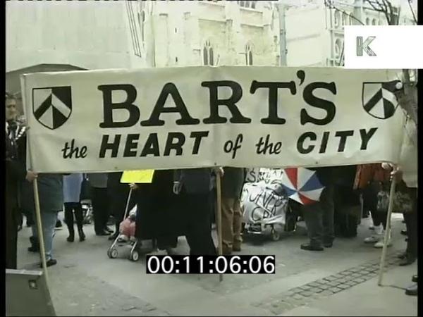 St Bart's Hospital, 1990s London