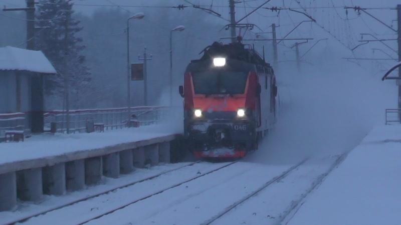 Электровоз ЭП20 046 с поездом № 014 Берлин Москва