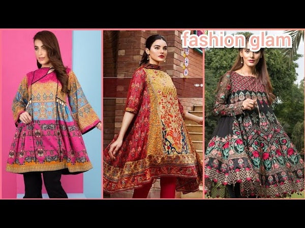 Latest Jhabla and Frock Styles Dresses Design For Girls 2018-19