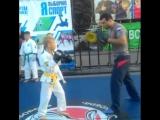 Дениска 8 лет на тренинге Чемпиона мира