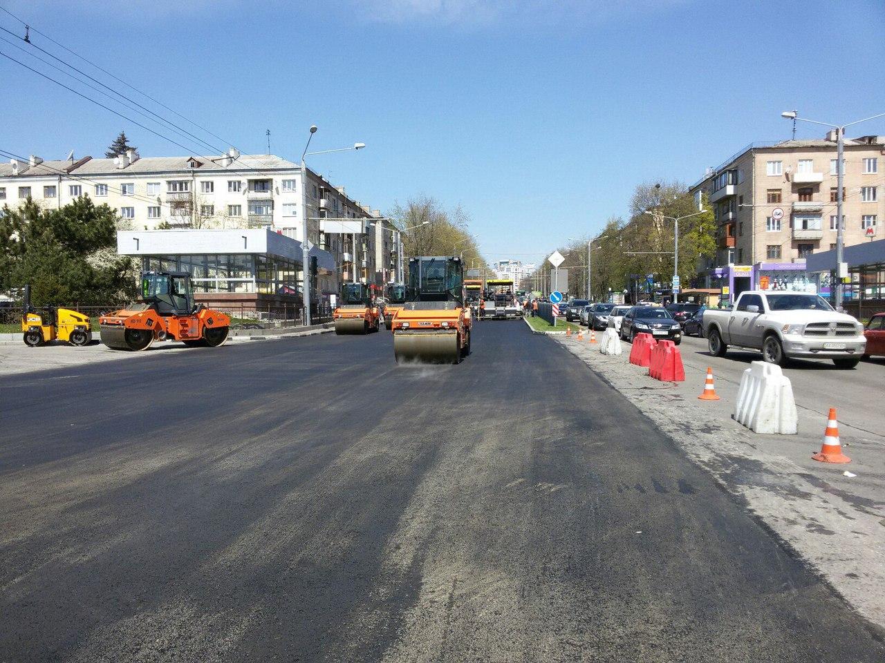 На проспекте Науки ремонтируют дорогу (ФОТО)