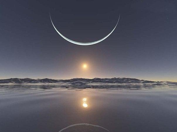 Восход на северном полюсе.