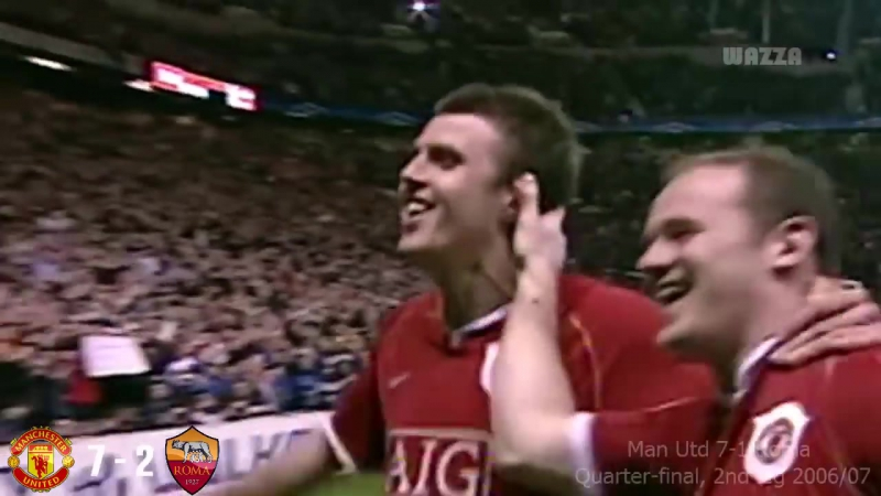 Manchester United 13-4 AS Roma - UCL 2007-2008 (6 Games with English Commentary)