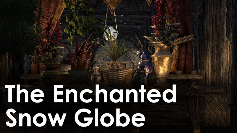 ESO Homestead - The Enchanted Snow Globe Decorated Again!