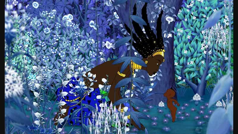 Кирику и колдунья Kirikou et la Sorcière 1998 Мишель Осело Michel Ocelot мультфильм перевод проф HD 1080