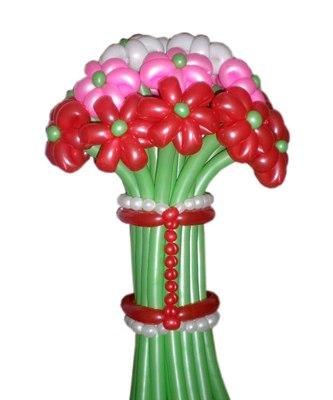№009. Цветы из шаров «Ромашки для Наташки»