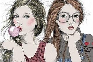 Нарисованые девушки
