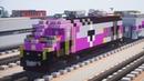 Minecraft MBTA HSP 46 Locomotive Tutorial