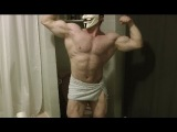 Sexy Aesthetic Natural 18 YO Bodybuilder Flexing Hairy Muscles