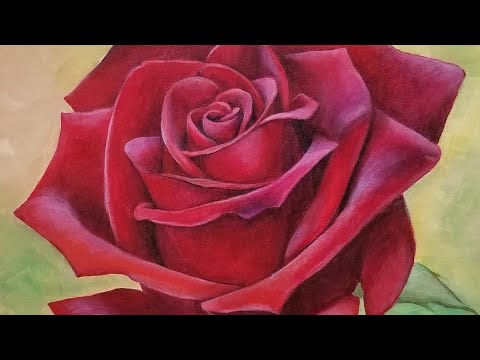 Red Rose Acrylic Painting LIVE Tutorial