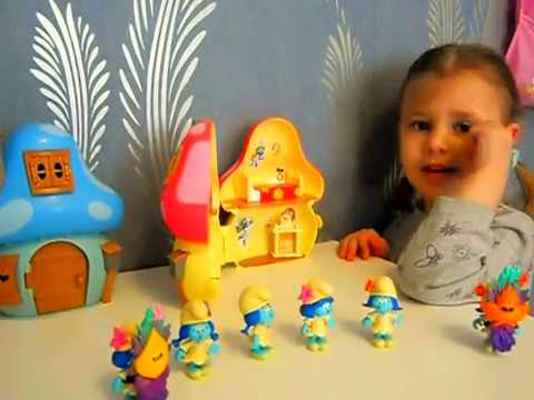 Играем в смурфиков Домики для смурфиков Смурфики из новой серии