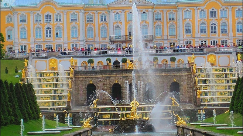 ПРОГУЛКА ПО ПЕТЕРГОФУ. Фонтаны и природа. Walk of Peterhof. Fountains and nature. St. Petersburg.