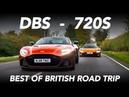 New Aston Martin DBS Superleggera vs Mclaren 720S - Best of British Road Trip