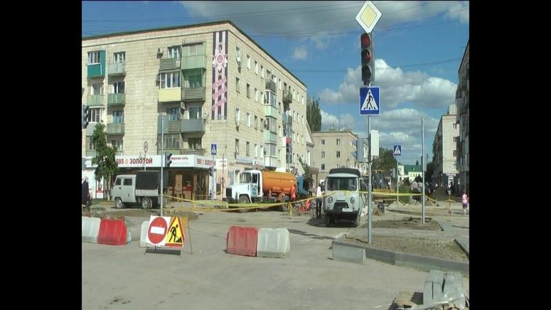 Город и горожане - Ремонт распределительного газопровода на перекрестке ул. Фроловской и ул. Революционной.