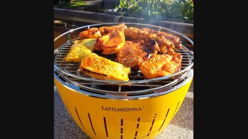 Lotus grill - крутой бездымный угольный гриль для дома