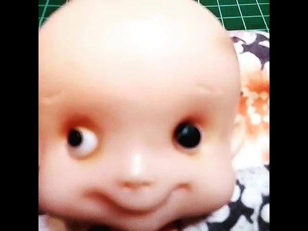 Как сделать красивые глазки .Фигурка из мастики.