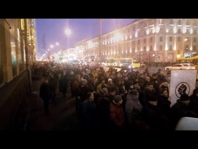 Срочно, белорусы вышли на митинг против указа о тунеядцах в Минске